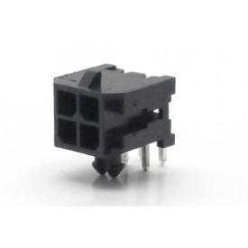 Conector  Macho JS-3027-04 90º Micro fit passo 3.00mm 4 vias - 2x2