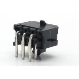 Conector  Macho JS-3027-06 90º Micro fit passo 3.00mm 6 vias - 2x3