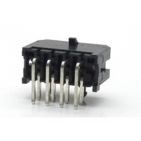 Conector  Macho JS-3027-08 90º Micro fit passo 3.00mm 8 vias - 2x4