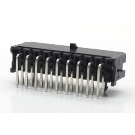 Conector Macho JS-3027-18 90º Micro fit passo 3.00mm 18 vias - 2x9