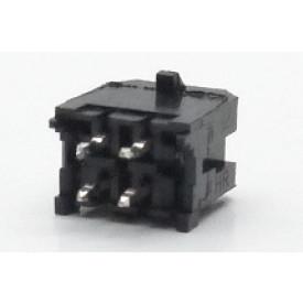 Conector Macho JS-3026-04 180º Micro fit passo 3.00mm 4 vias - 2x2