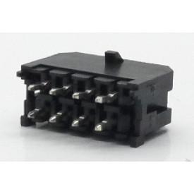 Conector  Macho JS-3026-08 180º Micro fit passo 3.00mm 8 vias - 2x4