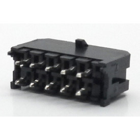 Conector  Macho JS-3026-10 180º Micro fit passo 3.00mm 10 vias - 2x5