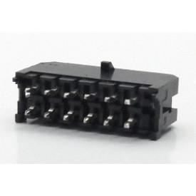Conector  Macho JS-3026-12 180º Micro fit passo 3.00mm 12 vias - 2x6