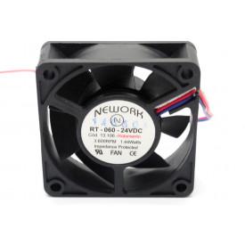 Microventilador Cooler RT-060 24VDC 3.600RPM 1.44 Watts (60x60x20mm) Rolamento - 13.106 - Nework