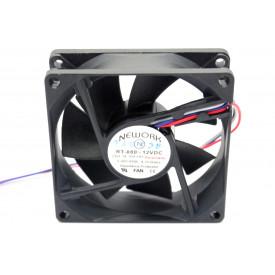 Microventilador Cooler RT-080 12VDC 5.000RPM 4.20 Watts (80x80x25mm) Rolamento - 14.104-HH - Nework
