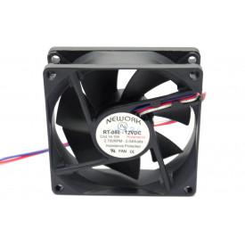 Microventilador Cooler RT-080 12VDC 2.700RPM 2.04 Watts (80x80x25mm) Rolamento - 14.104 - Nework