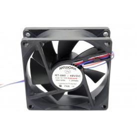 Microventilador Cooler RT-080 48VDC 3.300RPM 7.20 Watts (80x80x25mm) Rolamento - 14.108 - Nework