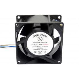 Microventilador Cooler RT-080 Bivolt 120/230VDC 14 Watts (80x80x38mm) Bucha - 51.202 - Nework