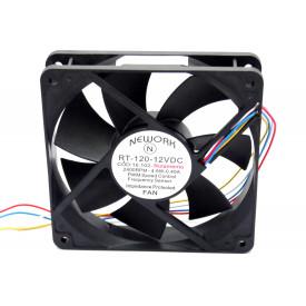 Microventilador Cooler RT-120 12VDC 2.400RPM 4.8 Watts (120x120x25mm) Rolamento - 16.102 - Nework