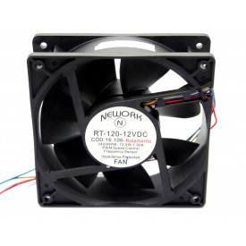 Microventilador Cooler RT-120 12VDC 2.400RPM 12.0 Watts (120x120x38mm) Rolamento - 16.106 - Nework
