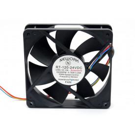 Microventilador Cooler RT-120 24VDC 3.000RPM 5.76 Watts (120x120x25mm) Rolamento - 16.108 - Nework