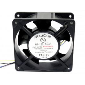 Microventilador Cooler RT-120 Bivolt 115/230VDC  23/19 Watts (120x120x38mm) Rolamento - 53.102 - Nework