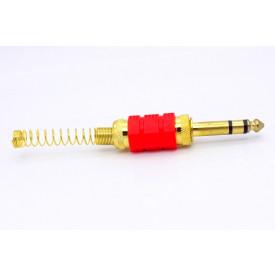 Plug P10 Esteréo JL11056 Dourado - JIALI