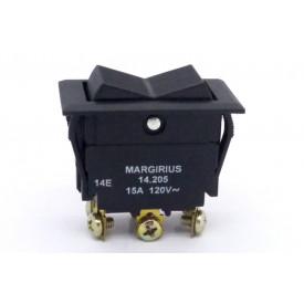 Interruptor de Tecla Plástica Bipolar 15A 14.205 (LIGA)/DESLIGA/(LIGA) Momentânea JL25029 - Margirius