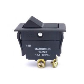 Interruptor de Tecla Plástica Bipolar 15A 14.223 LIGA/DESLIGA JL25027 - Margirius