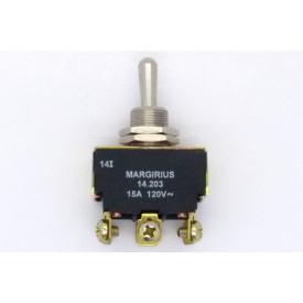 Interruptor de Alavanca Metálica Bipolar 15A 14.203 LIGA/DESLIG/LIGA  A1B1P1Q - Margirius