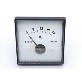 Amperímetro Analógico Sistema Ferro Móvel (CA) QN65 com escala até 20A Corrente Alternada