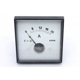 Amperímetro Analógico Sistema Ferro Móvel (CA) QN65 com escala até 8A Corrente Alternada