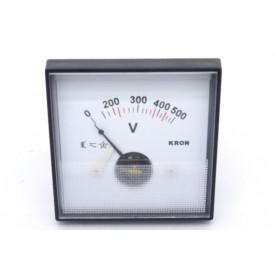 Voltímetro Analógico Sistema Ferro Móvel (CA) QN65 com escala até 250V Tensão Alternada