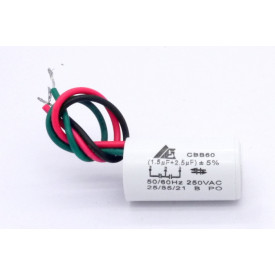 Capacitor de Partida 1.5uf+2.5UF/250VAC 50/60Hz +-5%