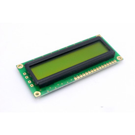 Display LCD 16x01 Verde sem Luz de Fundo (Back Light) WH-1601A-NYG-JT - Winstar