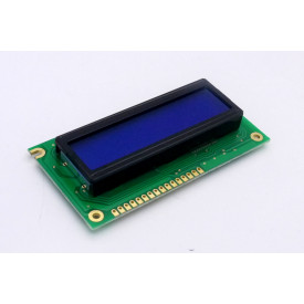 Display LCD 16x02 Azul com Luz de Fundo (Back Light) WH-1602A-TMI-JT - Winstar
