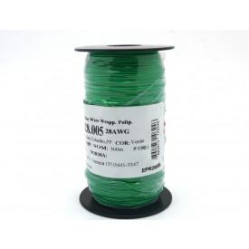 Fio Wire Wrap 28AWG  0.08mm  Verde WPR.A.28.005 Rolo com 300 Metros - Almak