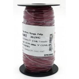 Fio Wire Wrap 30AWG  0.05mm  Vermeho WPR.A.30.002 Rolo com 300 Metros - Almak