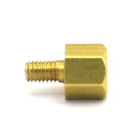 Espaçador para placa em latão FR-1058 - 5.5mm de Comprimento - Franab