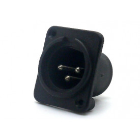 Conector XLR Macho Solda Fio para painel 907999002 - STcom
