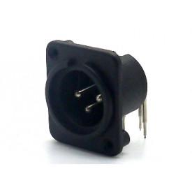 Conector XLR Macho Solda Fio para painel 907999006 - STcom
