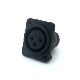 Conector XLR Fêmea Solda Fio para painel 907999007 - STcom