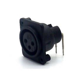 Conector XLR 90° Fêmea PCI para painel 907999010 - STcom