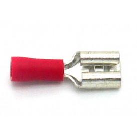 Terminal Fêmea Isolado 22-16 AWG  0.25 á 1.5mm Vermelho - FE2216-1C - Eletro Service