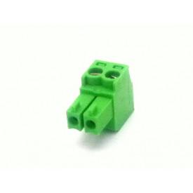 Conector Verde Multipolar AK1550-02 Fêmea de 2 vias - Passo 3.5mm - Phoenix Mecano