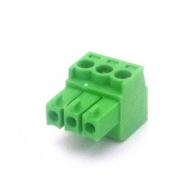 Conector Verde Multipolar AK1550-03 Fêmea de 3 vias - Passo 3.5mm - Phoenix Mecano