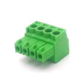 Conector Verde Multipolar AK1550-04 Fêmea de 4 vias - Passo 3.5mm - Phoenix Mecano
