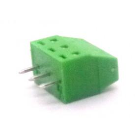 Conector Verde Multipolar AKZ602-03 Macho de 3 vias - Passo 3.81mm - Phoenix Mecano