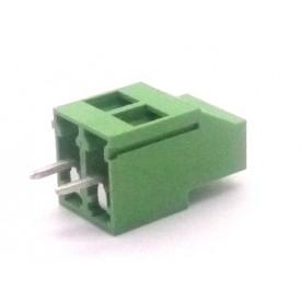 Conector Verde Multipolar AKZ700-02 Macho de 2 vias - Passo 5.0mm - Phoenix Mecano
