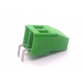 Conector Verde Multipolar AKZ700-02 Horizontal Macho de 2 vias - Passo 5.0mm - Phoenix Mecano