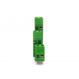 Conector Verde Multipolar AKZ770-02 Macho de 2 vias - Passo 5.08mm - Phoenix Mecano