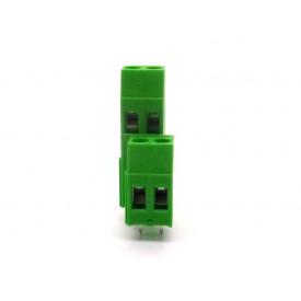 Conector Verde Multipolar AKZ750-02 Macho de 2 vias - Passo 5.08mm - Phoenix Mecano