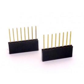 Conector Empilhável Compatível com Arduino 8 vias  PRT-09280 - Pacote com 2 unidades