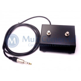 Pedal Foot Switch para Guitarra com 2 Botões