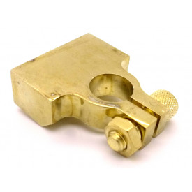 Clip para Bateria 4 Vias Negativo (-) Dourado