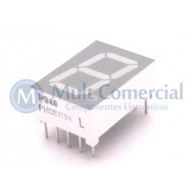 Display de 7 Segmentos Anodo Comum Vermelho Alta Intensidade PHDE113A - Politronic