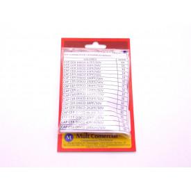 Kit de Capacitores Cerâmicos Disco - Contém 170 Capacitores