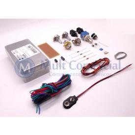 Kit de Componentes para pedal Fuzz NPN - Silício - by Tom Tone