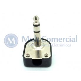 Plug P10 90° Estéreo JL11062 - JIALI